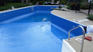 Liner replaced - pool fill begun
