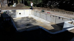 Customer pool renovation start